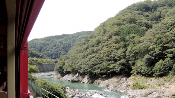 The view from Sagano Romantic Train