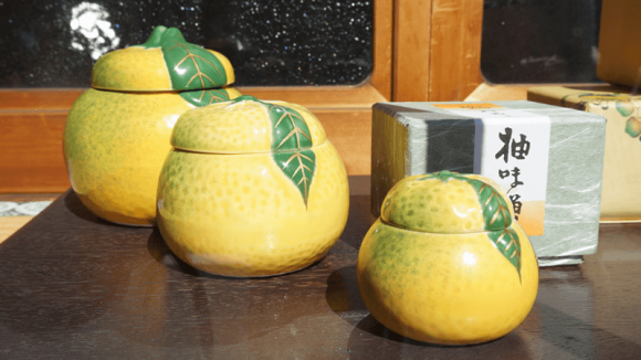 Yuzumiso in a pottery