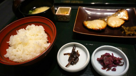 Spanish mackerel pickled in sweet Kyoto-style miso set meal