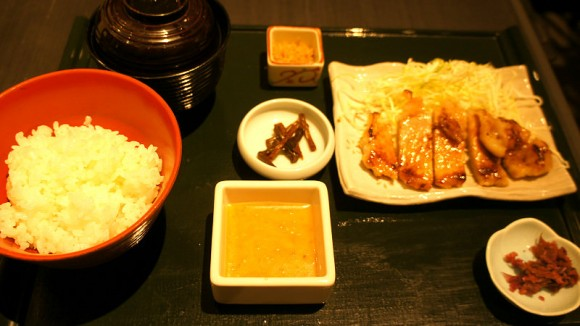 Pork loin pickled in sweet Kyoto-style miso set meal
