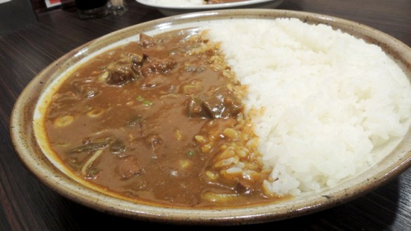 Curry with stewed beef gristle
