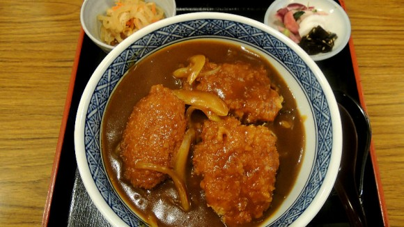 Cutlets Curry Don, a rice bowl with cutlets covered by curry