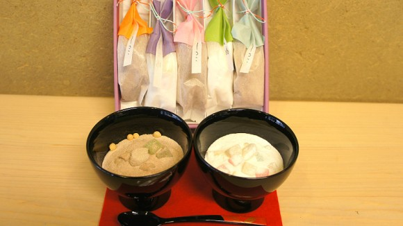 Shiruko & Kuzuyu set, sweet red bean soup & starch gruel set (a box of five)