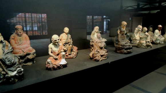 Ceramic figures of sixteen arhats