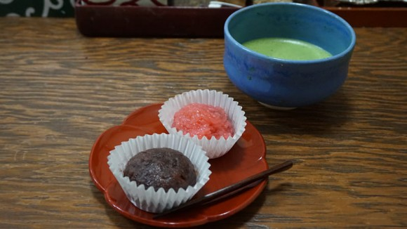 Matcha and ohagi