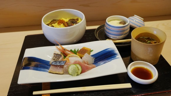 Chawan mushi set meal