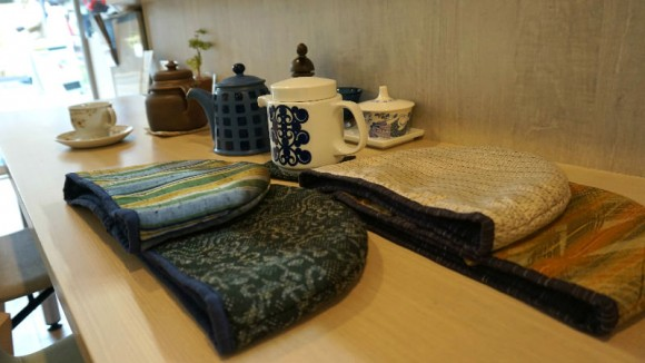 Check out the original tea pot covers and coasters