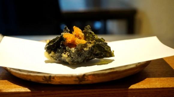 Uni tempura