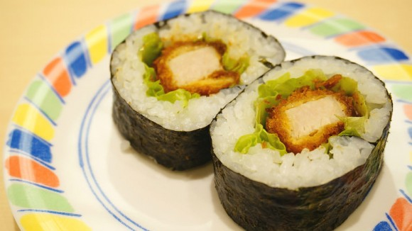 Pork cutlet sushi
