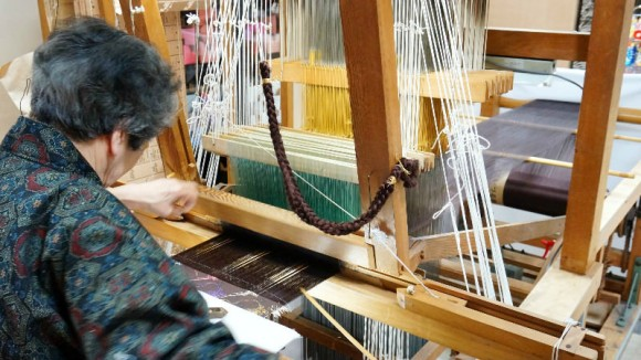 Handweaving demonstration
