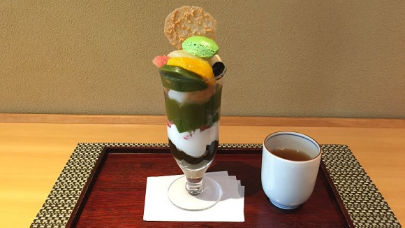 Matcha Parfait with Matcha and Houjicha Jellies
