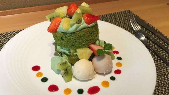 Matcha Chiffon Cake with Matcha Cream