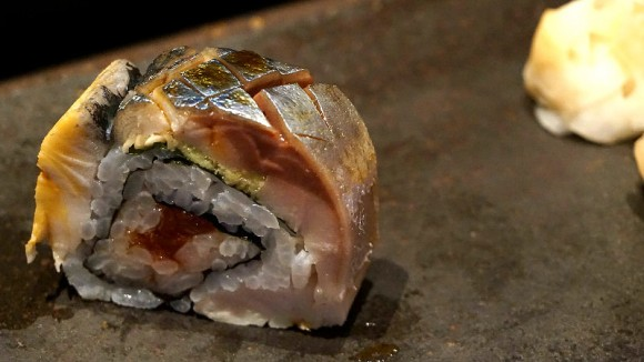 "Mackerel Sushi called ""Fukin Maki"""