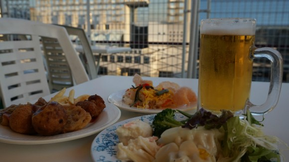 Kyoto Tower Building Roof Top Beer Garden (10th floor)