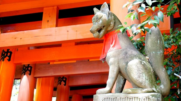 The Statue of Foxes