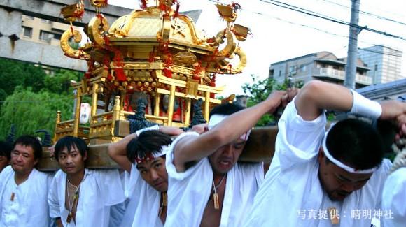 Portable shrines called Mikoshi