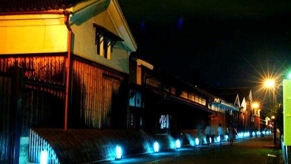 Nighttime illumination around Brewery Street