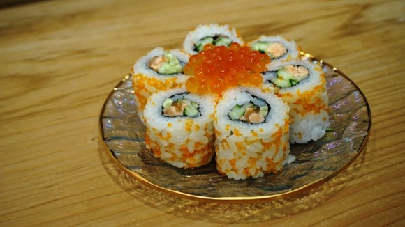 Salmon Roe and Belly Roll